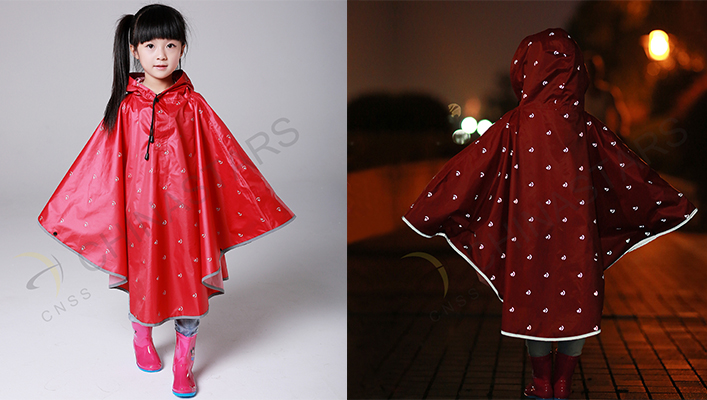 reflective raincoat children